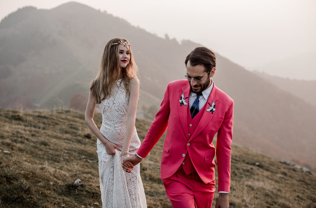 An Intimate Boho Elopement in the Hills Above Lake Como