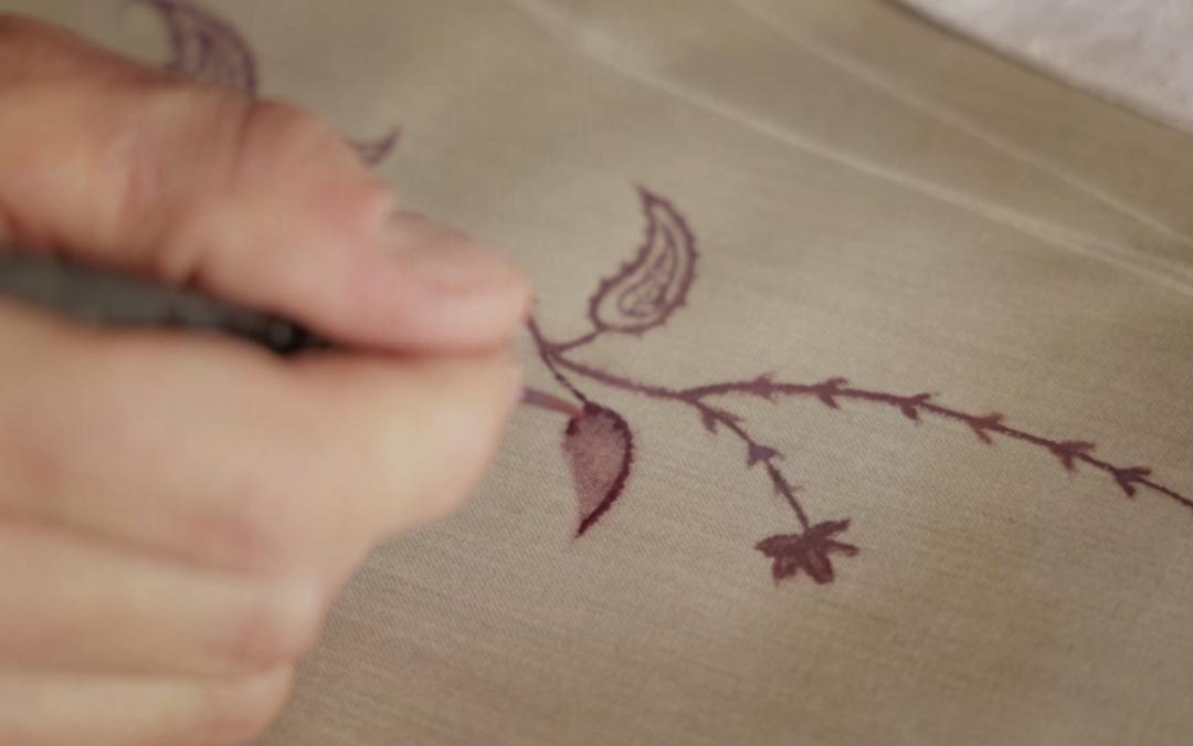 Linneo crew: dipinto a mano libera su tessuto