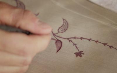 Linnèo crew: dipinto a mano libera su tessuto